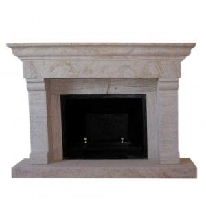 Chimeneas de piedra marmoles hidalgo piedrabuena for Molduras para chimeneas